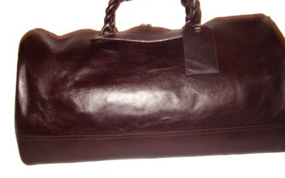 Leather Travel Bag with twisted Handles