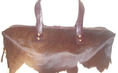 Natural Cowhide Travel Bag (small)