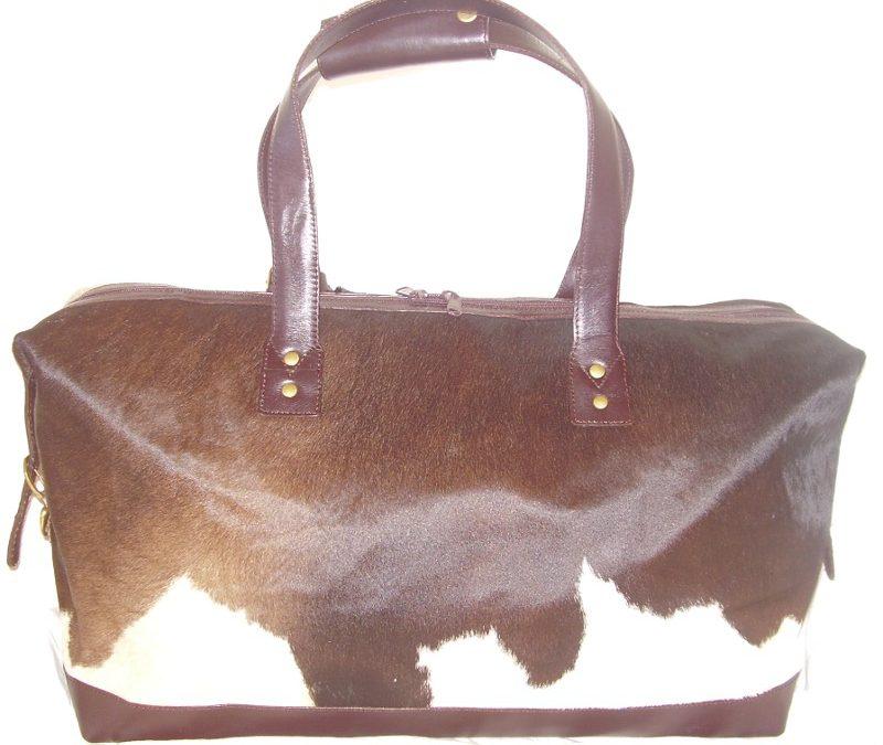 Natural Cowhide Travel Bag (small)